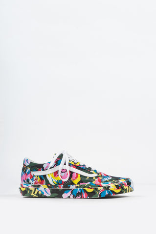 VANS VAULT X KENZO OG OLD SKOOL LX FLORAL GREEN TRUE WHITE