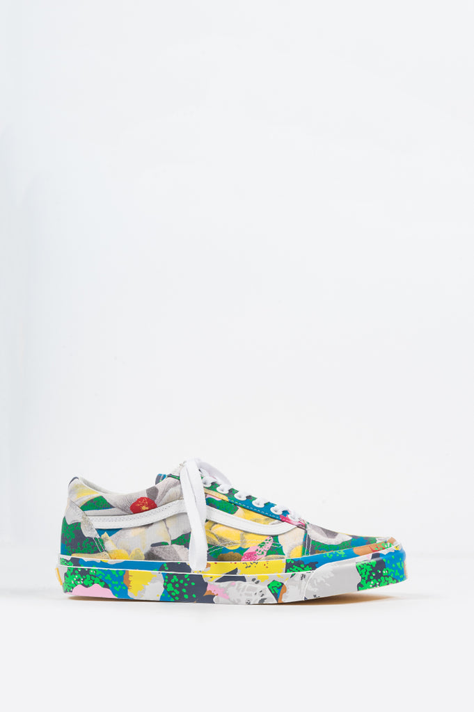 VANS VAULT X KENZO OG OLD SKOOL LX FLORAL YELLOW TRUE WHITE