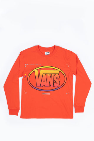 VANS VAULT LQQK L/S T-SHIRT BRIGHT ORANGE