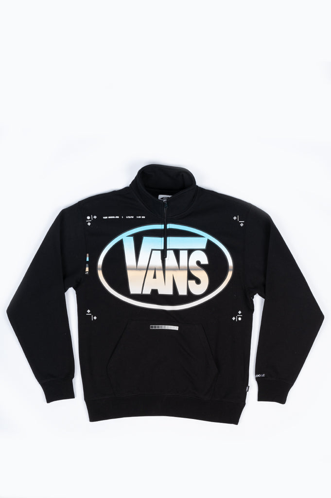 VANS VAULT LQQK QUARTER ZIP BLACK
