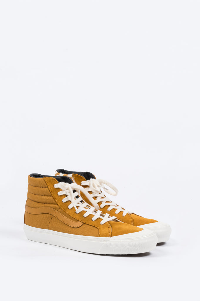 VANS VAULT OG STYLE 138 LX BUCKTHORN BROWN CHECKERBOARD - BLENDS