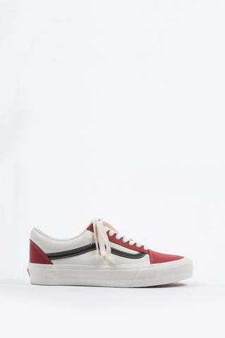 VANS VAULT OG OLD SKOOL LEATHER CHILI PEPPER BLACK - BLENDS