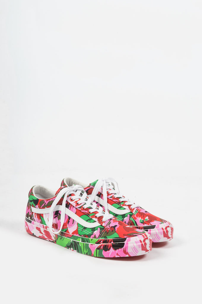 VANS VAULT X KENZO OG OLD SKOOL LX FLORAL RED TRUE WHITE