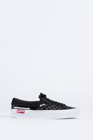 VANS VAULT SLIP-ON CAP LX PONY HAIR BLACK TRUE WHITE