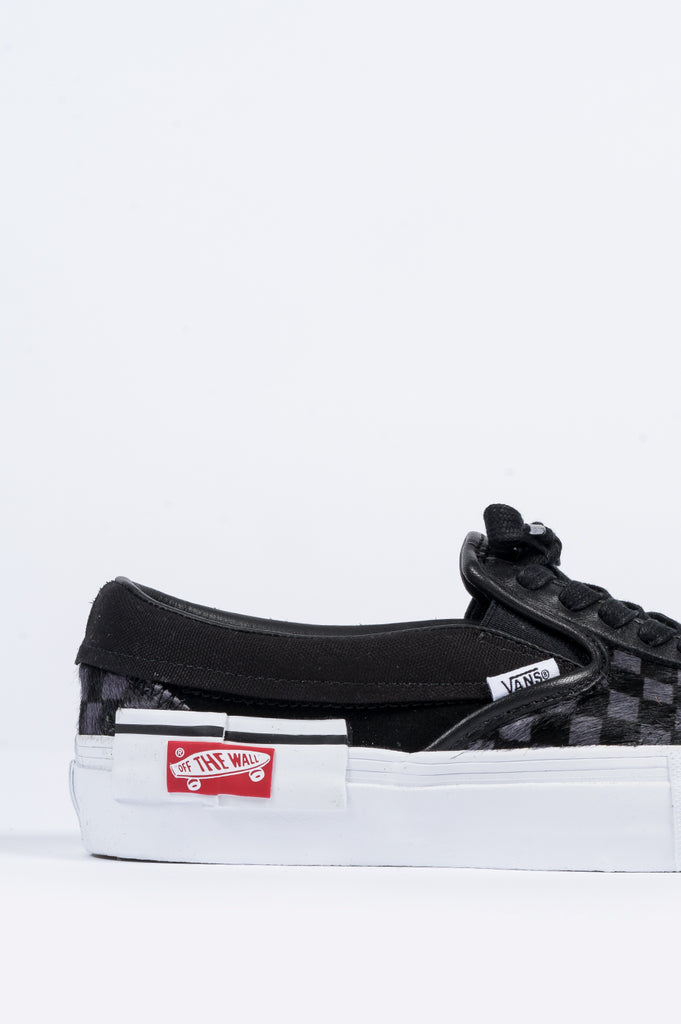 4ead94b208 VANS VAULT SLIP-ON CAP LX PONY HAIR BLACK TRUE WHITE – BLENDS