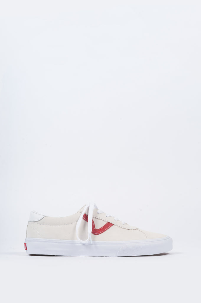 VANS SPORT SUEDE MARSHMALLOW RACING RED - BLENDS