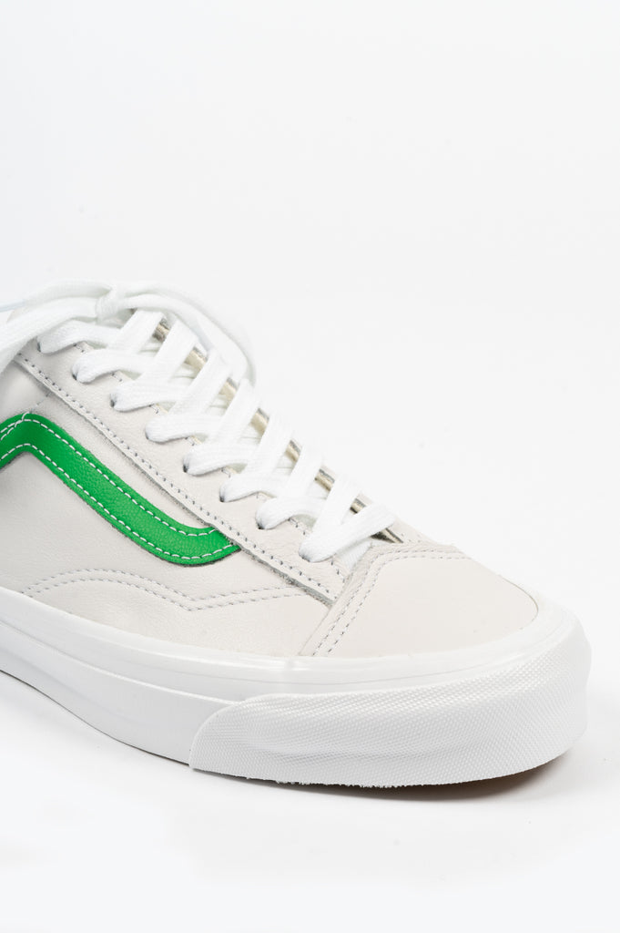 VANS VAULT OG STYLE 36 LX LEATHER GREEN WHITE