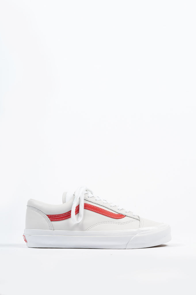 VANS VAULT OG STYLE 36 LX LEATHER RED WHITE