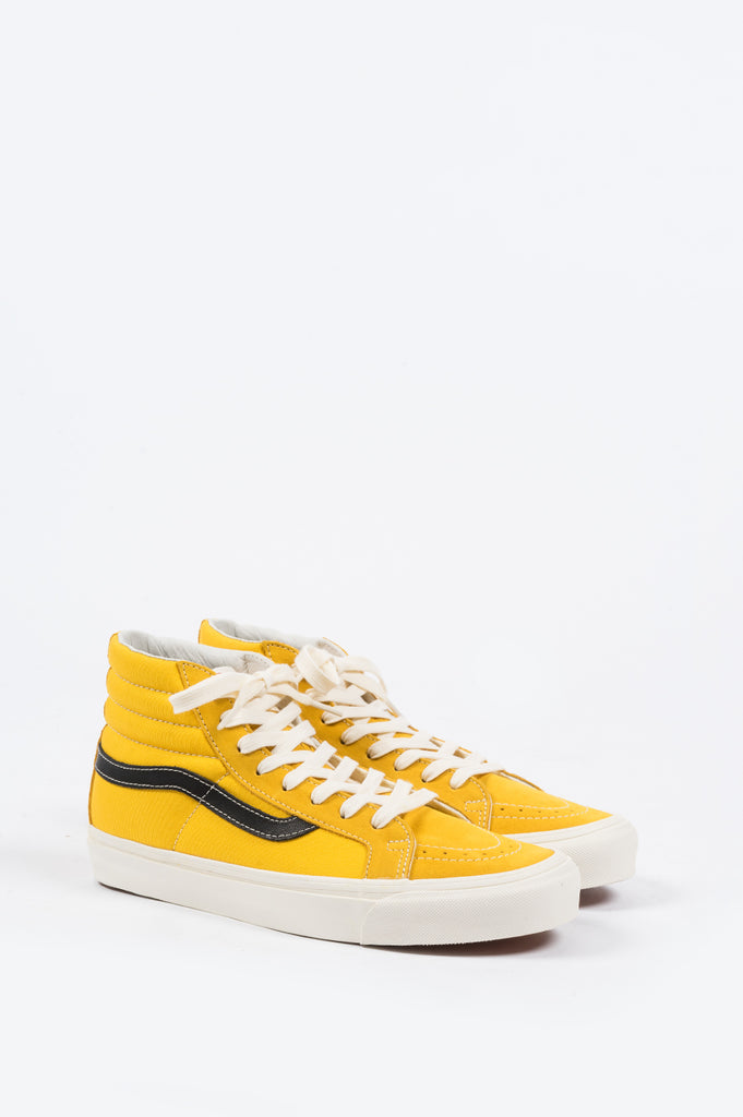 VANS VAULT OG SK8-HI LX OLD GOLD BLACK - BLENDS
