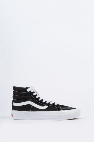VANS VAULT OG SK8-HI LX BLACK TRUE WHITE - BLENDS