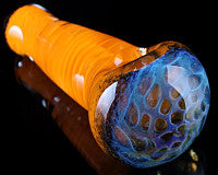 Crumb Twisted Frit Honeycomb Pipe