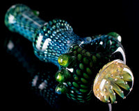 Firekist Snake Skin Airtrap Anemone Marble Pipe