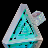 Blasted Dichro Triangle Opal Refractor Pendant