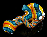 Global Glassworks DNA Cane Linework Pipe