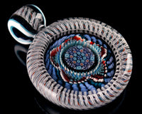 Global Glassworks DNA Cane Mille Pendant