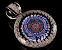 Global Glassworks UV DNA Cane Mille Pendant