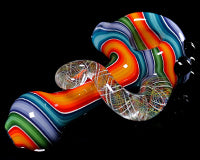 Global Glassworks UV DNA Cane Linework Pipe