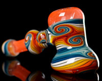 Mitchell Glass Ghost Orange Linework Hammer