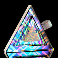 Dichro Crystal Lattice Opal Triangle Pendant
