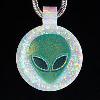 3D Alien Opal Inlay Pendant