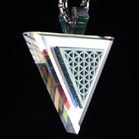 Isometric Opal Triangle Dichro Infinity Pendant