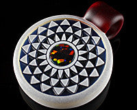 GlassMaze Rettistar Opal Inlay Pendant