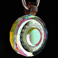 Faceted Sun Disk Dichropal Infinity Pendant
