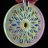 Blasted Efflorescent Dichro Refractor Coin Pendant