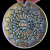 Blasted 3D Cell Dichroic Refractor Coin Pendant