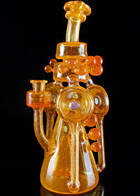 ID Glass Double Orange Troika Recycler