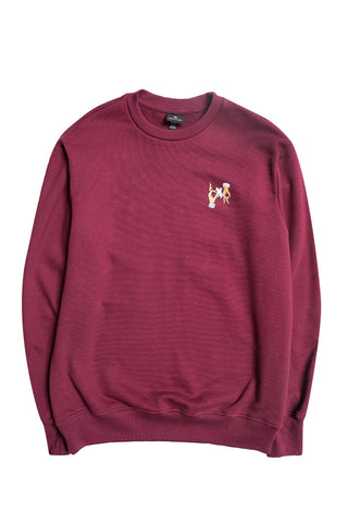 Hands Crewneck Sweatshirt Burgundy