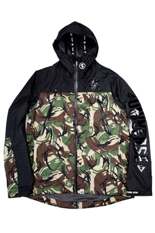 2 LAYER WINDBREAKER GREEN CAMO