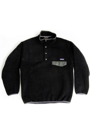 LIGHTWEIGHT SYNCHILLA SNAP-T FLEECE PULLOVER Black/Forge Grey