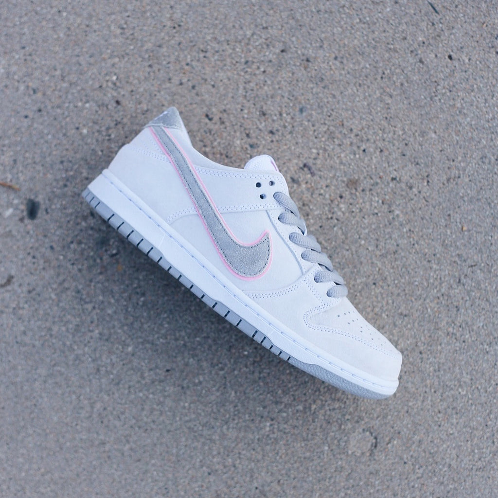 sale retailer e96ca e1972 ... authentic nike sb zoom dunk low pro ishod wair white perfect pink  silver 9c05d eae54