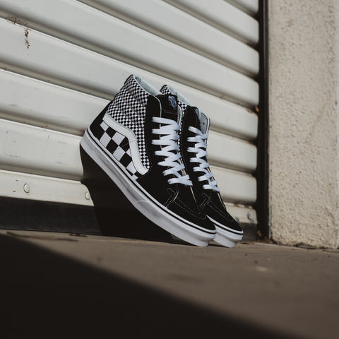 VANS SK8 HI MIX CHECKER BLACK WHITE
