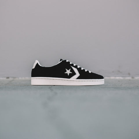 CONVERSE PRO LEATHER OX BLACK EGRET