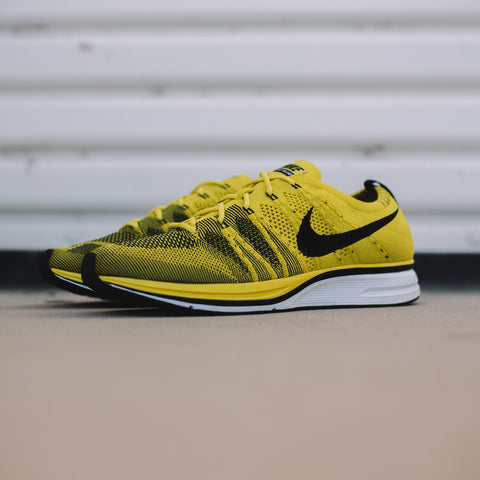 NIKE FLYKNIT TRAINER BRIGHT CITRON BLACK WHITE