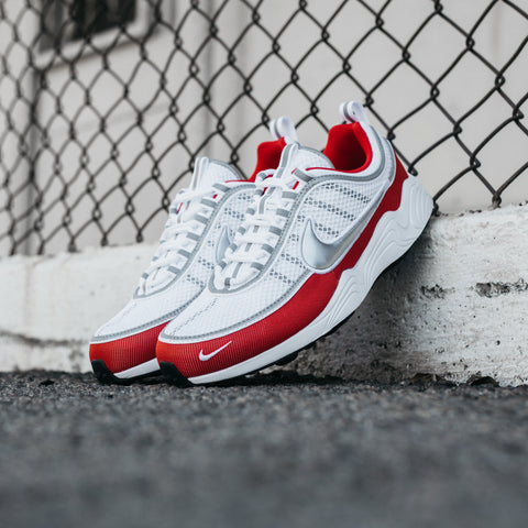 NIKE AIR ZOOM SPIRIDON '16 WHITE METALLIC SILVER RED