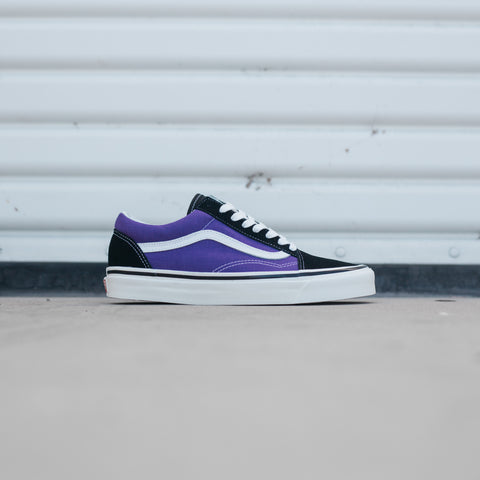 VANS OLD SKOOL 36 DX ANAHEIM FACTORY BLACK OG BRIGHT PURPLE