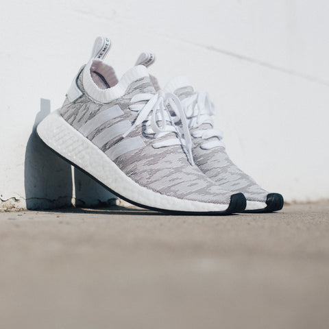 ADIDAS NMD R2 PRIMEKNIT GREY WHITE RED