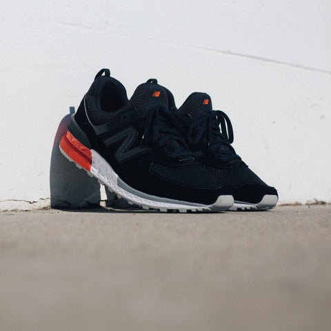 NEW BALANCE MS574AB REENGINEERED BLACK GREY RED