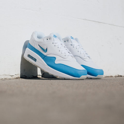 NIKE AIR MAX 1 PREMIUM SC WHITE UNIVERSITY BLUE