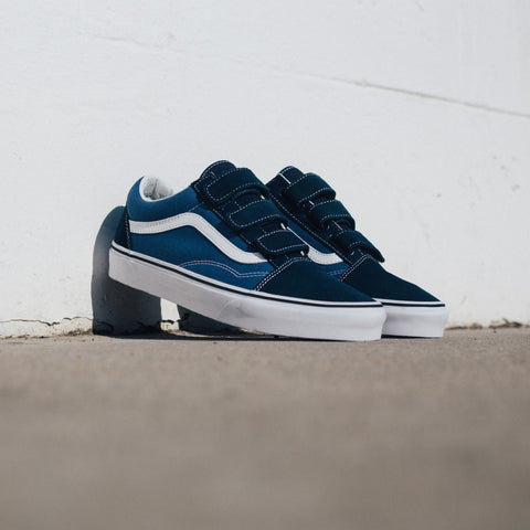 VANS OLD SKOOL V BLUE BLACK