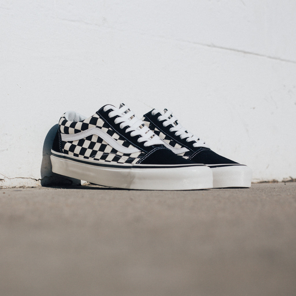 vans old skool 36 dx anaheim factory black checkerboard. Black Bedroom Furniture Sets. Home Design Ideas