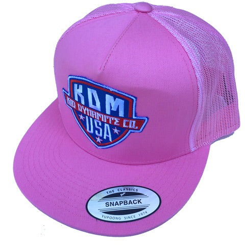 KDM / USA Pink Trucker Hat