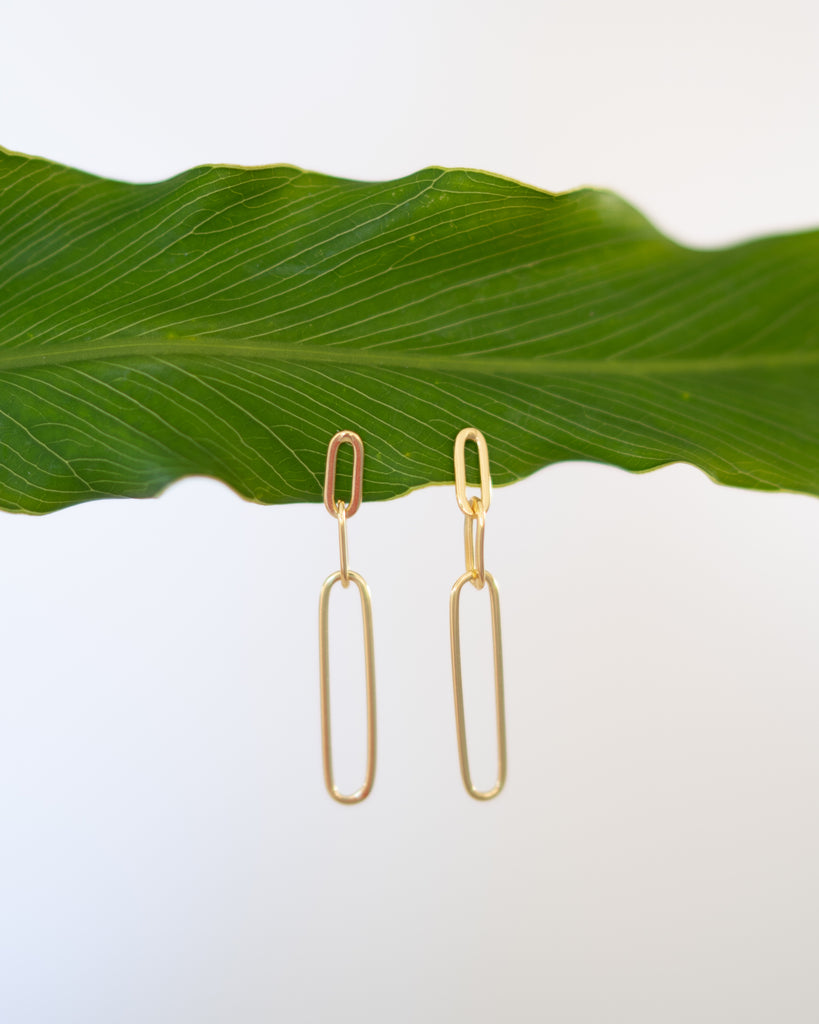 Golden Chain Earrings