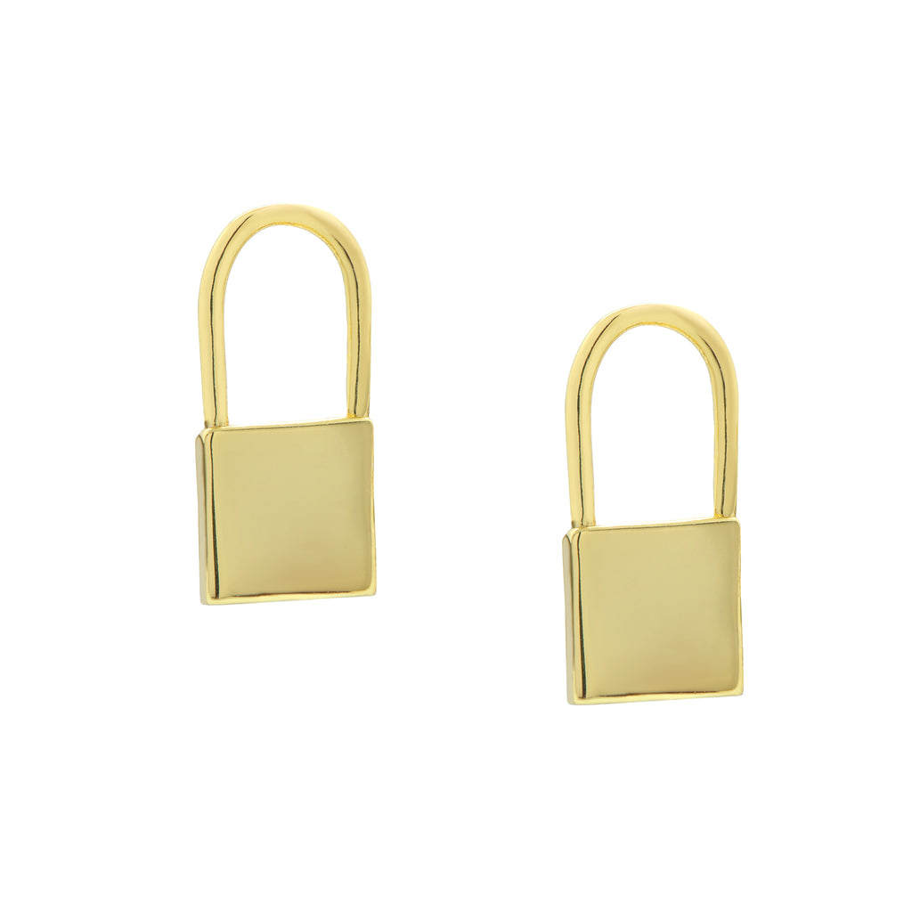 Lock Huggie Earrings