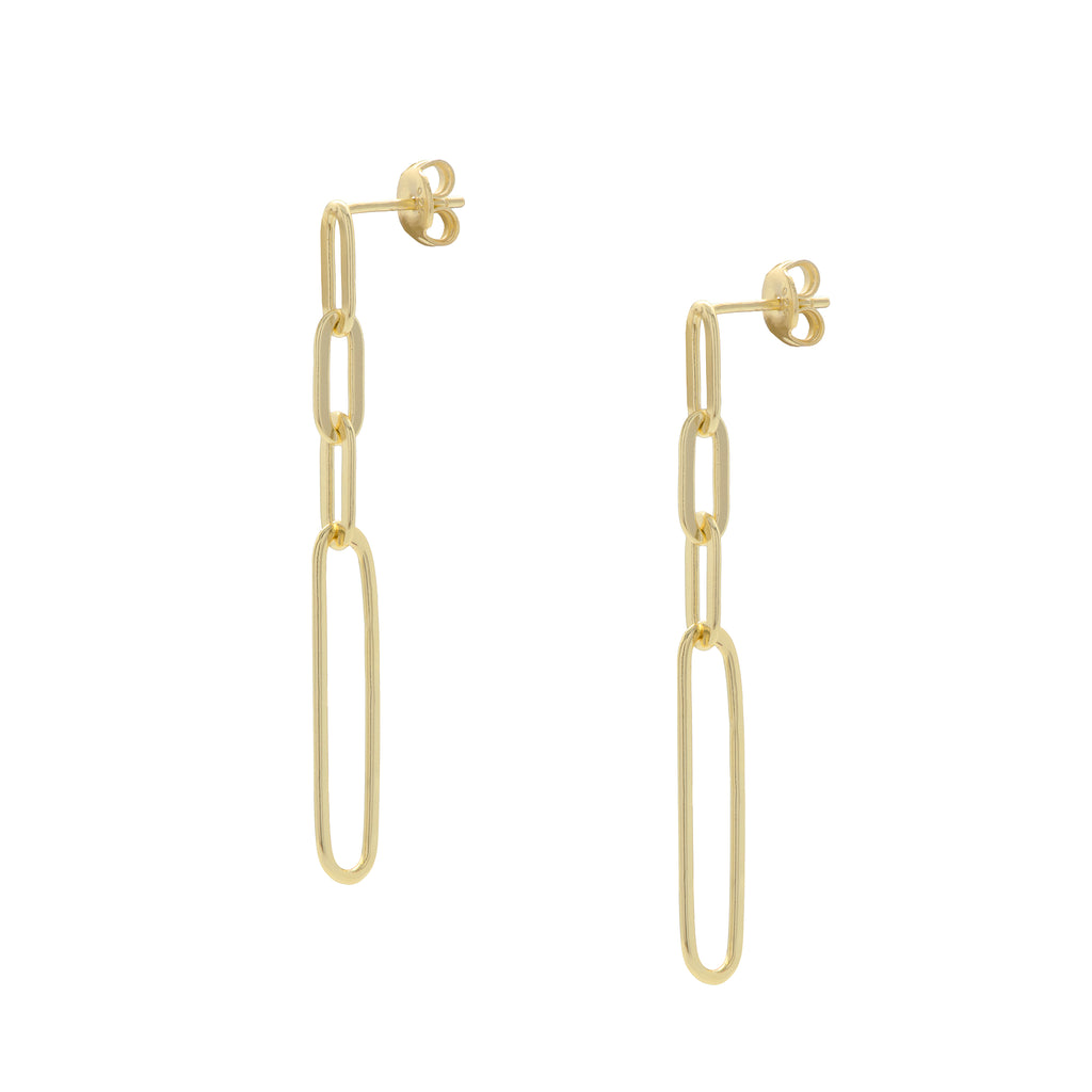 Long Golden Chain Earrings