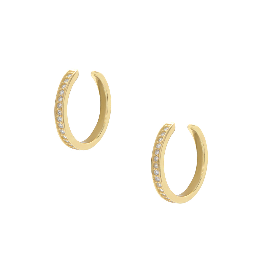 Pavé Gold Ear Cuffs