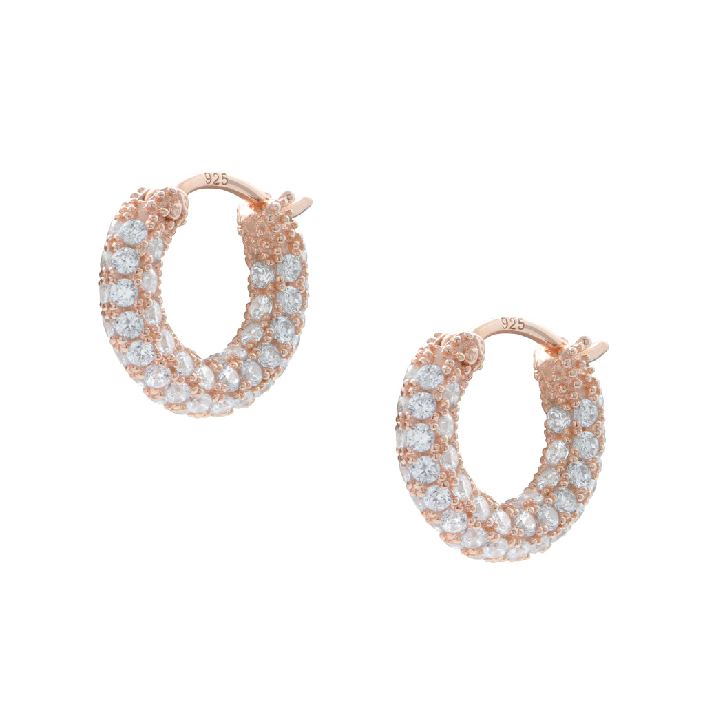Pavé Huggie Earrings